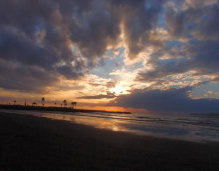 2012年の締めくくりの夕日
