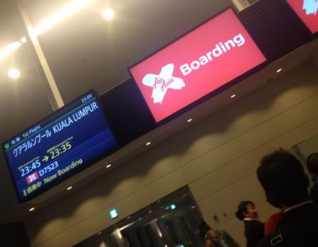 Air Asiaでクアラルンプールへ…飛行機センチメンタル