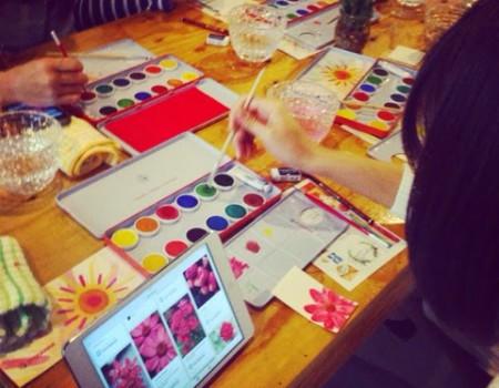 Nextweekend x Pinterest 好きの宝庫から水彩カードをつくる