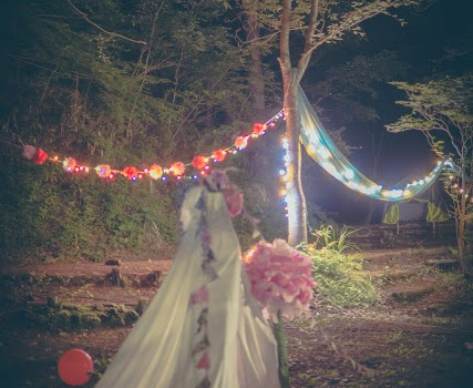Camping Weekend!2  ライトと布とキャンドルで、幻想的な夜は作れる