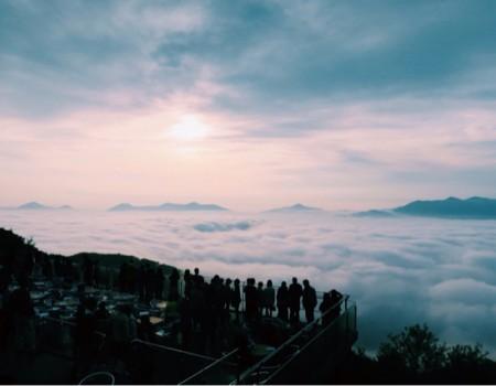 北海道!トマム雲海テラスで絶景ご機嫌夜明け♩Ukulele@ Unkai Terrace, Hokkaido