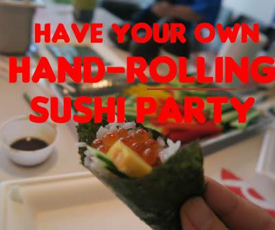 手巻き寿司を教えてきたよん♩ Have your own hand-rolling sushi party !
