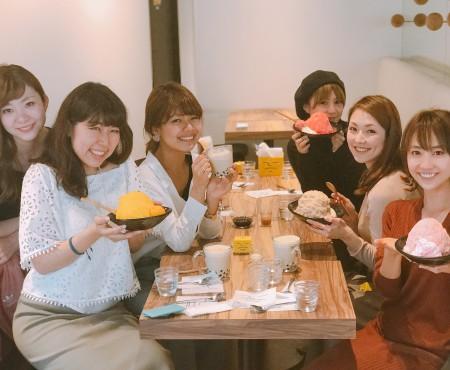 トラベルブロガーたちと桜かき氷 ice monster with travel bloggers