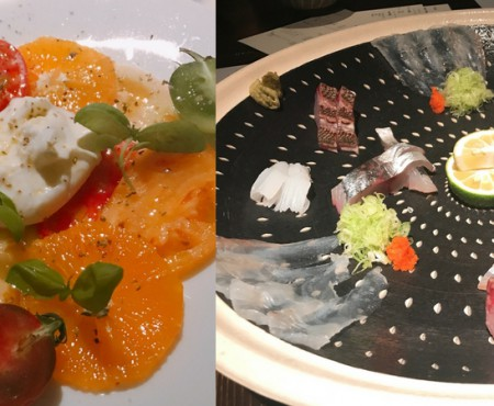 おしゃれな銀座線沿で、カラフルなお祝いディナー Colorful dinner on Ginza line