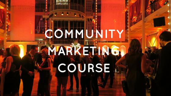 コミュニティマーケティング集中講座を始めます Starting Community Marketing Course