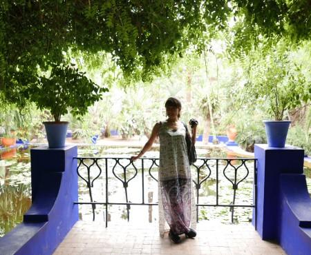マラケシュ マジョレル庭園へ Majorelle Garden Marrakech