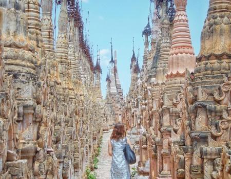 ミャンマー カックー遺跡 Kakku Pagodas, Myanmar