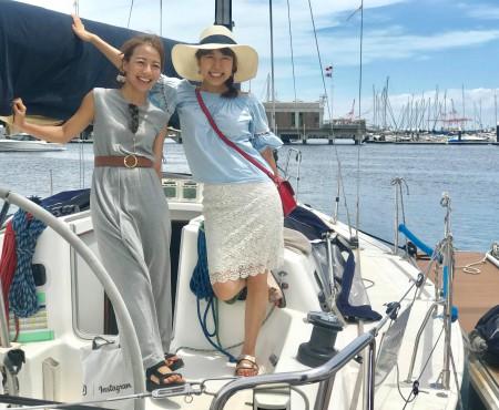 ヨット初乗船!帆に風を受けて  My first Yacht experience