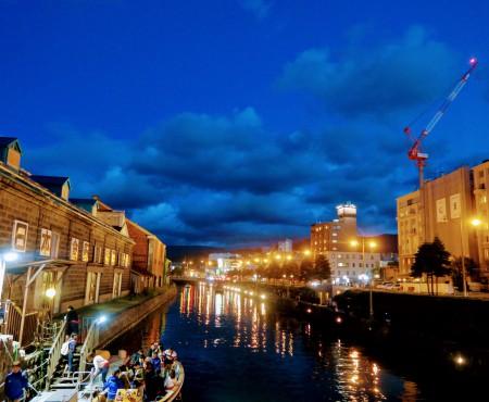初小樽!ロマンティックな運河と、カフェ「小樽タイムガーデン」