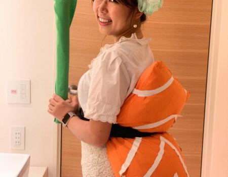 お寿司好きすぎてハロウィン衣装にした I became Sushi on Halloween 2018